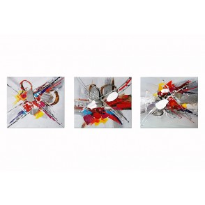 TA5629 - SET OF 3 ABSTRACT PAINTING 30*30 - GALLERY