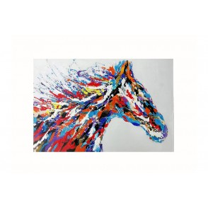 TA5660 - PAINTING COLORFUL HORSE 120*80 - GALLERY