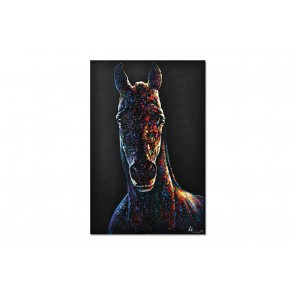 TA5666 - PAINTING HORSE 3D WOOD 60*90 - GALLERY