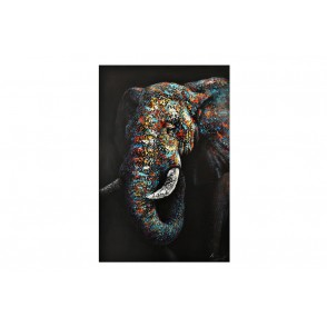 TA5667 - PAINTING ELEPHANT 3D WOOD 60*90 - GALLERY