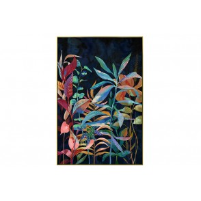 TA5672 - PAINTING LEAVES FANTASTIC WORLD 60*90 GOLD FRAME  - GALLERY