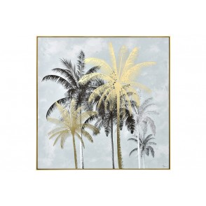 TA5675 - PAINTING PALM TREES BLACK/GOLD 100*100 GOLD FRAME - GALLERY