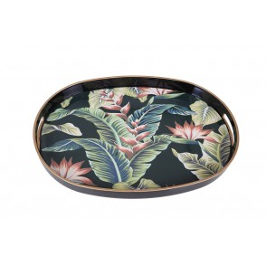 UD7711 - RECTANGULAR TRAY EXOTIC FLOWERS - HOME