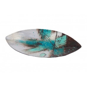 VA10430 - PLATE BLUE ABSTRACT STYLE - ACAPULCO