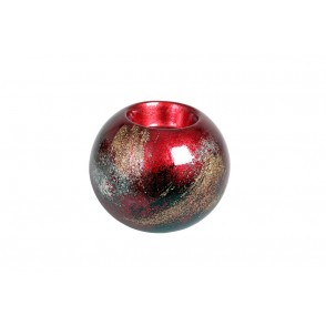 VA10490 - CANDLE HOLDER ARTY RED/GOLD - ACAPULCO