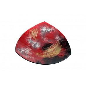VA10492 - TRIANGLE PLATE ARTY RED/GOLD - ACAPULCO