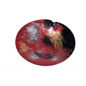 VA10495 - ROUND PLATE ARTY RED/GOLD - ACAPULCO