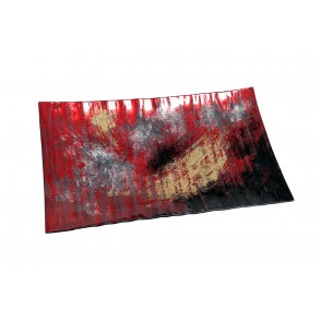 VA10497 - RECTANGLE PLATE ARTY RED/GOLD - ACAPULCO