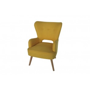 AT1014 - FAUTEUIL JAUNE ACCOUDOIRS - CONFORT