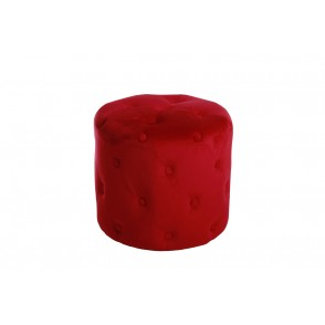 AT1025 - POUF CAPITONNE ROUGE CARMIN - CONFORT