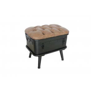 AT1032 - POUF COFFRE CHESTERFIELD - CONFORT