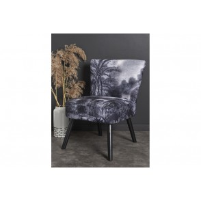 AT1038 - FAUTEUIL JUNGLE NOIR ET BLANC - CONFORT