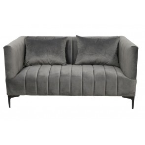 AT1047 - CANAPE CONFORT VELOURS GRIS - CONFORT