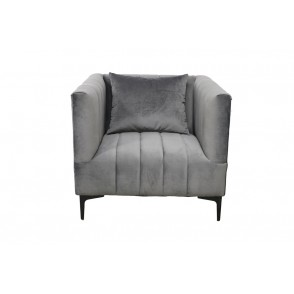 AT1048 - FAUTEUIL CONFORT VELOURS GRIS - CONFORT