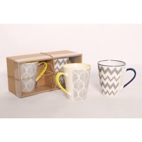 AU4736 - ENSEMBLE 2 MUGS - ZIGZAG