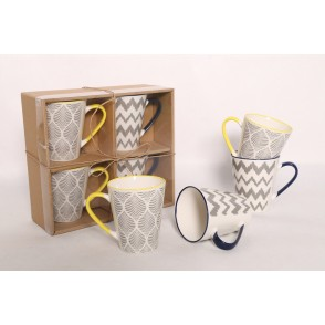 AU4737 - ENSEMBLE 4 MUGS - ZIGZAG
