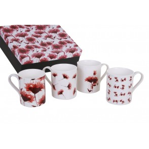 AU4785 - ENSEMBLE 4 MUGS - FLORALIE