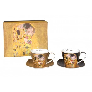 AU4813 - ENS. 2 TASSES A THE KLIMT 250 ML - G.KLIMT