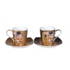 AU4842 - ENS. 2 TASSES A CAFE KLIMT 130 ML - G.KLIMT
