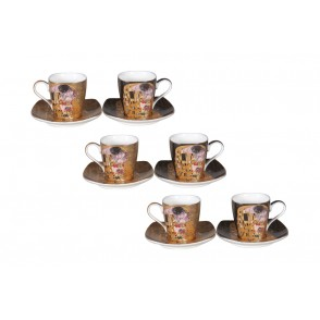 AU4843 - ENS. 6 TASSES A CAFE KLIMT 130 ML - G.KLIMT