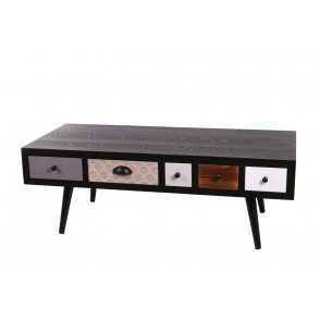 BP3910 - TABLE BASSE 5 TIROIRS COULISSANTS -