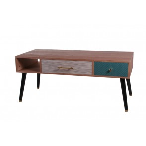 BP3913 - TABLE BASSE 2 TIROIRS COULISSANTS -