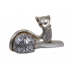 DG3093 - CHAT COUCHE ARGENT/CHAMPAGNE - ROMA