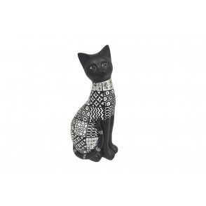 DG3157 - CHAT ASSIS COLORIS NOIR BLANC - LAGOS