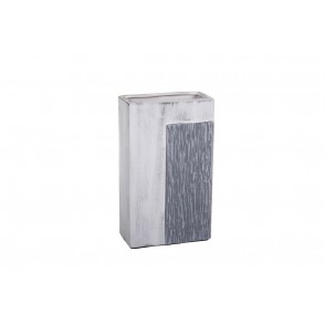 DT2553 - VASE RECTANGLE GRIS PATINE - DUALITE