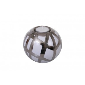 DT2635 - BOUGEOIR BOULE QUADRILLAGE - EQUINOXE