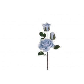 FA1027 - ROSE ARTIFICIELLE BLEUE - HEVEA