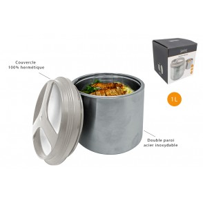 FIH728 - LUNCH BOX INOX COUVERCLE HERMETIQUE 1L - NERTHUS