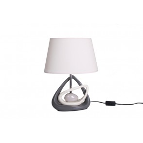 LV1779 - LAMPE TRIANGLES OPPOSES GRIS/BEIGE - INTERIOR
