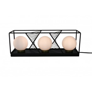 LV1862 - LAMPE METAL TRIPLE SPHERES VERRE - INTERIOR