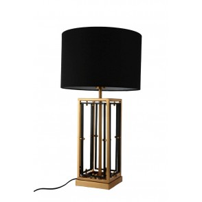 LV1902 - LAMPE METAL RECTANGLES NOIR/OR - INTERIOR