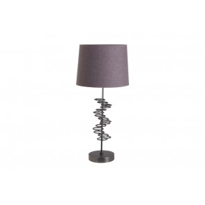 LV1909 - LAMPE METAL BOUCLES GRIS - INTERIOR