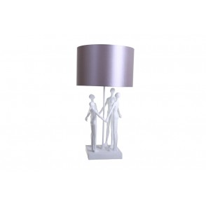 LV2047 - LAMPE STYLISEE FAMILLE BLANC/GRIS - INTERIOR