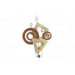 MD4294 - CERCLES /TRIANGLES OCRE ET AMBRE - BEAUX-ARTS