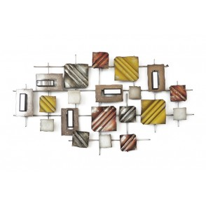 MD4417 - CARRES/RECTANGLES/MIROIRS MULTICOLORES - BEAUX-ARTS