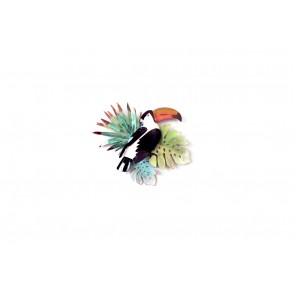 MD4759 - TOUCAN/FEUILLAGE TROPICAL - BEAUX-ARTS