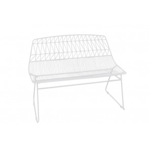 MM01112 - BANC BLANC - ART DE FER