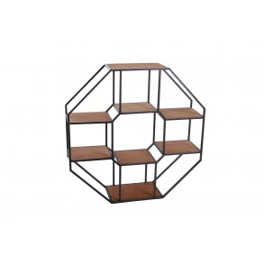 MM01171 - ETAGERE OCTOGONALE - ART DE FER