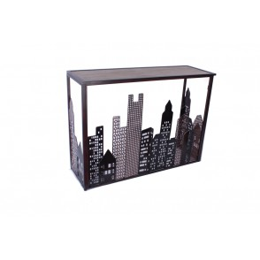 MM01242 - CONSOLE VILLE BUILDINGS DECOUPES - ART DE FER