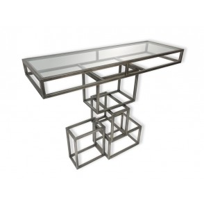 MM01254 - CONSOLE METAL CUBES SUPERPOSES - ART DE FER