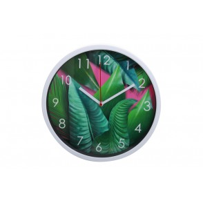 PE1815 - PENDULE ALU DECOR TROPICAL - TEMPO