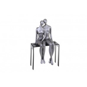 ST8144 - COUPLE TENDRESSE SUR BANC -