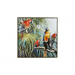 TA5395 - TABLEAU TROPICAL JUNGLE PERROQUETS 100*100 - GALLERY