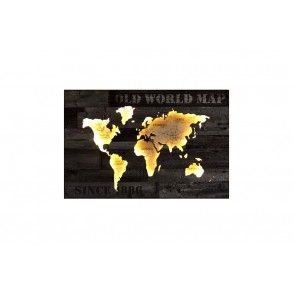 TA5402 - TABLEAU BOIS LED DECOR MAPPEMONDE  - GALLERY