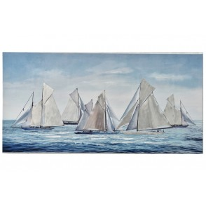 TA5490 - VOILIERS VOILES METAL BLEU 70*140 - GALLERY