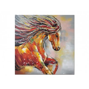 TA5508 - CHEVAL GALOP MULTICOLORE 100*100 - GALLERY